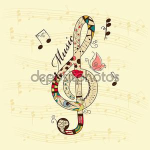 Абстрактный скрипичный ключ