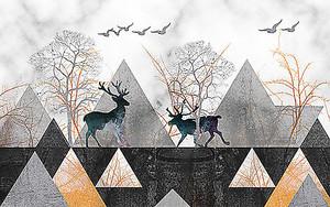 Олени в треугольниках