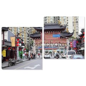 Улица в Старом городе Шанхай, Китай