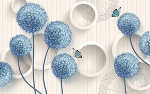 Голубые шарообразные цветы