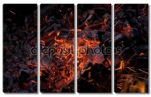 горячие тлеющие угольки