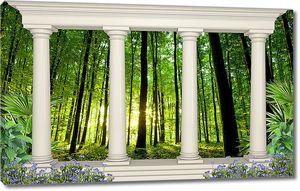 Лес с портиком