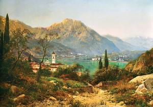 Живописный вид на парк и горы