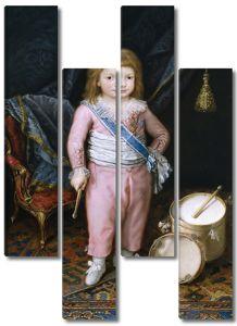 Карнисеро Антонио. Ребенок с барабаном и бубном