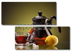 Чашка чая и горшок