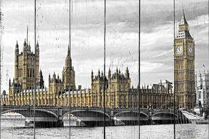 Биг-Бена, дома парламента и Вестминстерский мост,