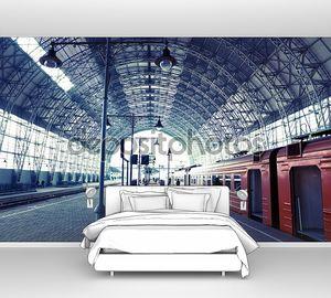 Крытая железнодорожная станция