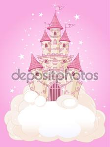 Розовый замок небо