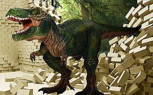 Динозавр разрушивший стену