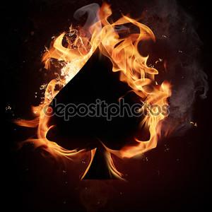 Символ карты в огне
