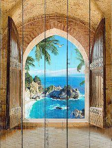 Вид из арки на голубую лагуну