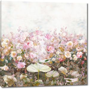 Садовые розы в розовой гамме