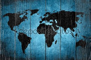 старинными карта мира