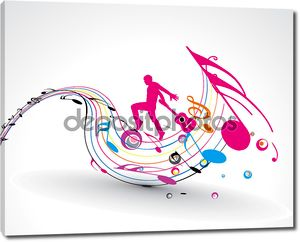 Абстрактная музыка танца фон