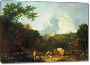 Уилсон Ричард. Пейзаж в Тиволи с видом на виллу Мецената