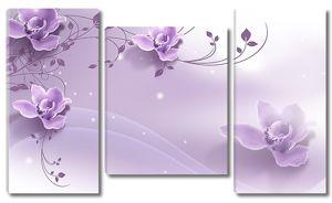 Сиреневый цветочный ряд