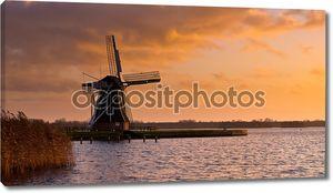 Ветер мельница МОЛЕН Нидерланды