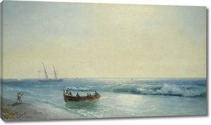 Айвазовский. Моряки выходят на берег