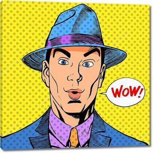 Удивление человека в шляпе