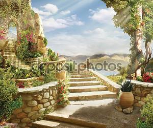 Лестница в небеса сквозь арку