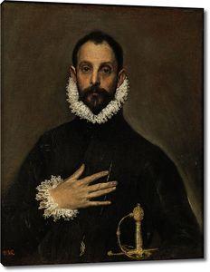 Эль Греко. Рыцарь с рукой на груди