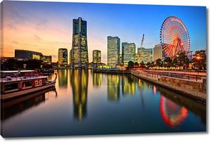 Иокогама пейзаж на закате