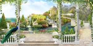 Живописная терраса в саду