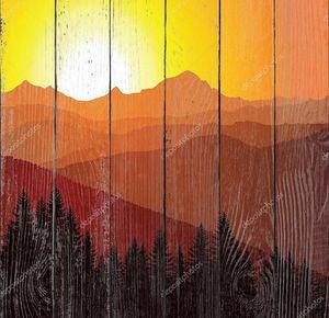 Вектор панорама гор