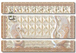 Керамическая стена с лебедями