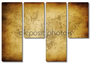 Ancient map of the worl