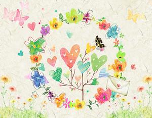 Хоровод из цветов и сердечек