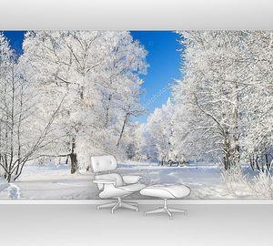Зимний пейзаж с дорогой