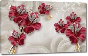 Цветы с драгоценностями