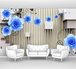 Кубы и синие розы