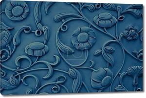 Синие каменные цветы