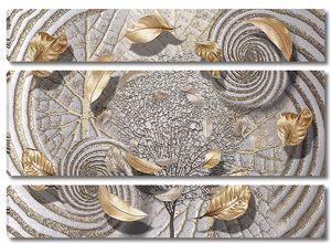 Абстракция с золотыми листьями