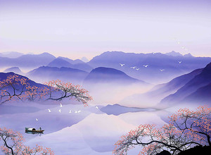 Фиолетовое горное озеро
