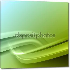 Зеленый фон с линиями
