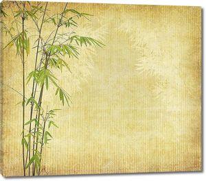 Китайский бамбук на винтажной поверхности