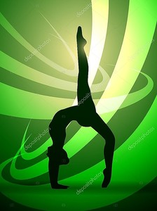 Силуэты гимнастика