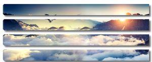 Горный орел над облаками