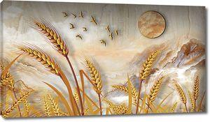 Колосья на мраморе