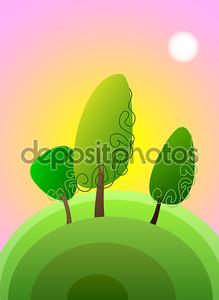 тополь дерево, вектор