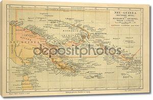 Старая карта Новой Гвинеи