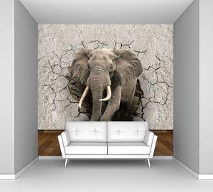 Слон из треснувшей стены