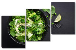 новый зеленый салат