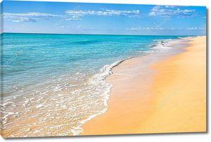 Песчаный пляж воды фон