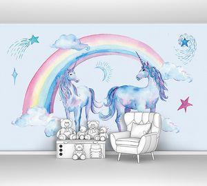 Единороги под радугой