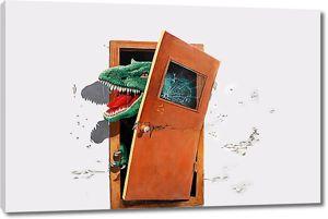 Динозавр из двери