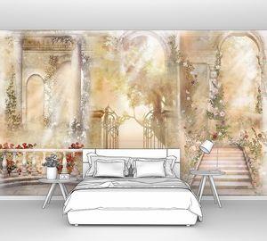 Фреска с балконом и дорогами